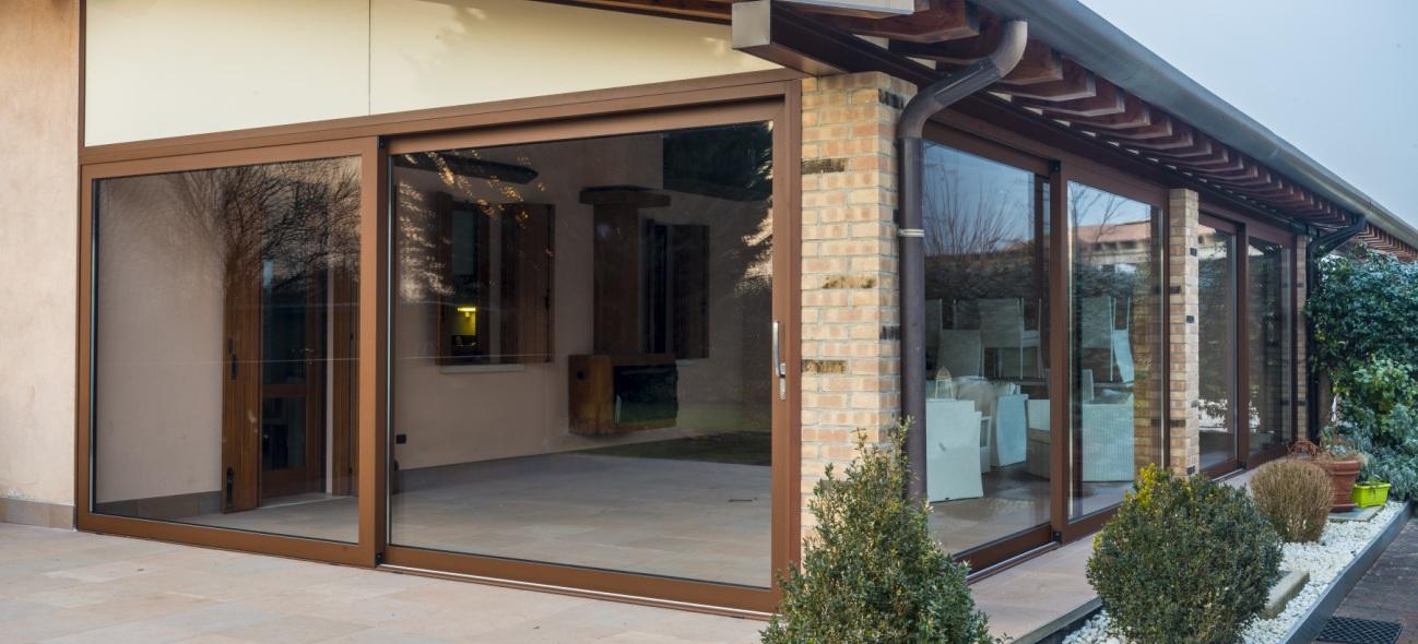 scorrevole infisso finestra giusti costruzioni metalliche montebelluna treviso